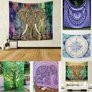 Indian Elephant Mandala Hippie Wall Hanging Tapestry Gypsy Bedspread Throw New