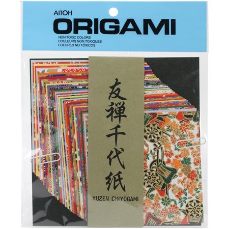 Yuzen Washi Chiyogami Origami Paper, 4 by 4-Inch, 40 Sheets, Create exquisite paper decorations By Aitoh