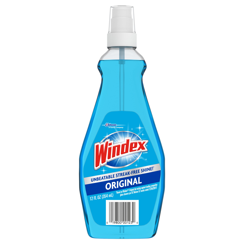 (2 pack) Windex Glass Cleaner with Sprayer, 12 fl oz