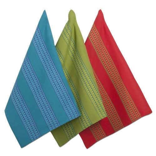 TAG Beach Maya Waffle Weave Stripe Dishtowel (Set of 3)