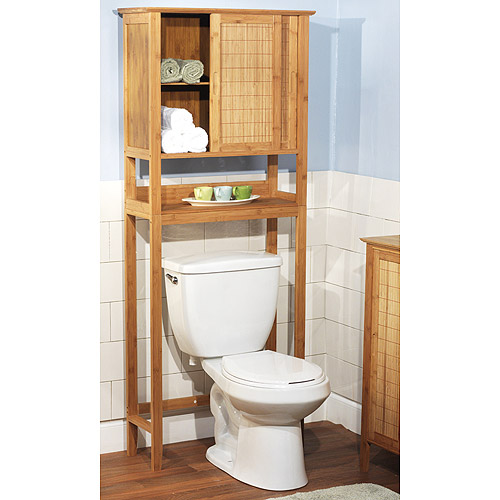 Bamboo Over the Toilet Space Saver 23040NAT - Walmart.com