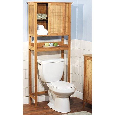 Bamboo Over The Toilet Bathroom Storage Space Saver 1 Door