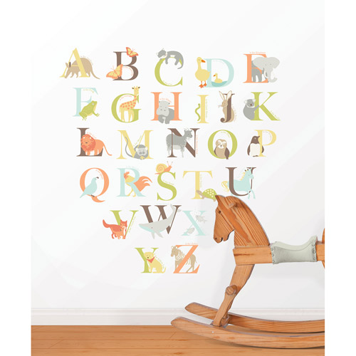 WallPops Alphabet Zoo Wall Art Kit