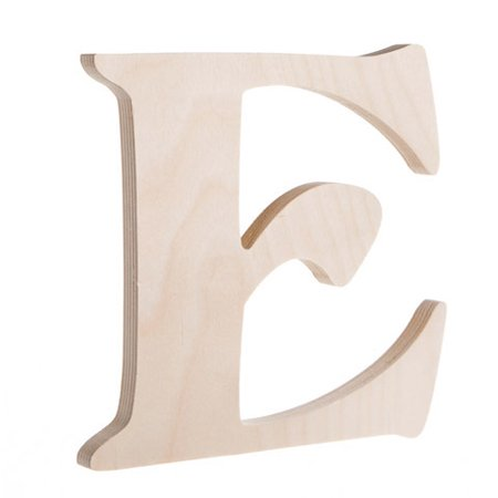 Fancy Wooden Letter E Unfinished 725 Inches