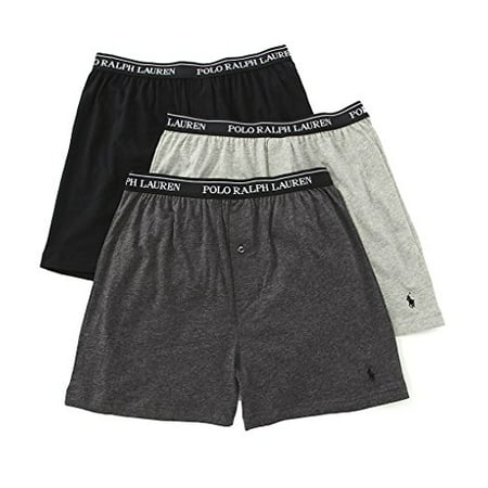 63a12dd0fb64 Polo Ralph Lauren - Polo Ralph Lauren Classic Fit 100% Cotton Knit Boxers - 3  Pack (Lckb) (Large, Assorted Grey) - Walmart.com