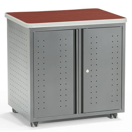 OFM Mesa Series Model 66746 Wheeled Locking Mobile Utility Station Cabinet with Laminate Top, - Locking Utility Cabinet