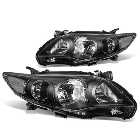 1997 Toyota Corolla Sedan - For 2011 to 2013 toyota Corolla Sedan Pair Black Housing Clear Corner Headlight Headlamp 12 Left+Right
