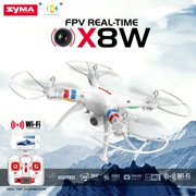 Cheerwing White Syma X8W FPV 2.4Ghz 4CH Large Headless RC Quadcopter Drone with HD Camera