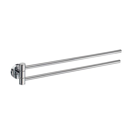 Home Swing Arm Towel Rail in Polished Chrome Finish