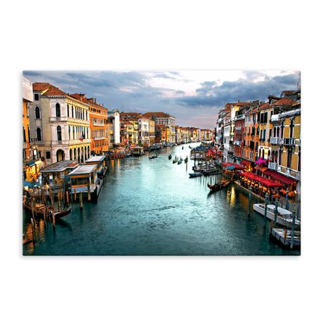 Ebern Designs 'Venetian Canal' Photographic Print on Wrapped Canvas
