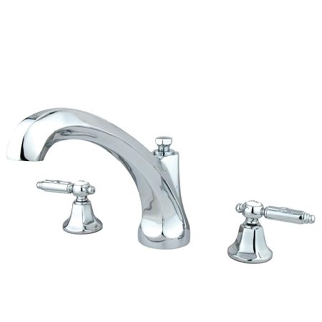 Kingston Brass KS4321GL Roman Tub Filler, Polished Chrome