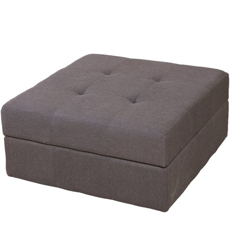 Brilliant Zillah Brown Grey Fabric Storage Ottoman Caraccident5 Cool Chair Designs And Ideas Caraccident5Info