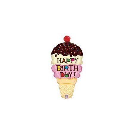 Ice Cream Cone Shaped Happy Birthday 33