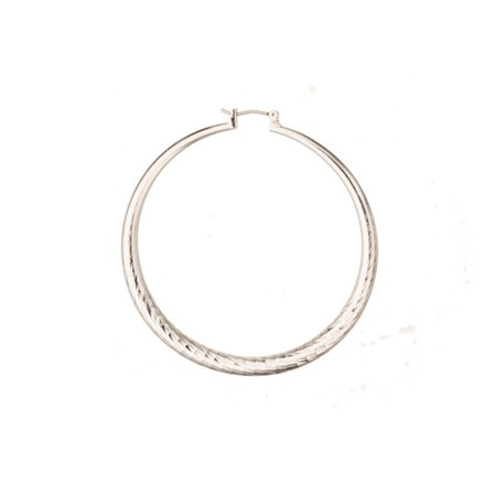 - Ear Hoops Earring, Mordent Design Teardrop Earring With Disco Ball Girded Design, Made With Silver Plated Jewelry Alloy Metal, 4mm Surgical Stainless Steel Pin, Size 60x60mm Sold per pkg of 2pcs