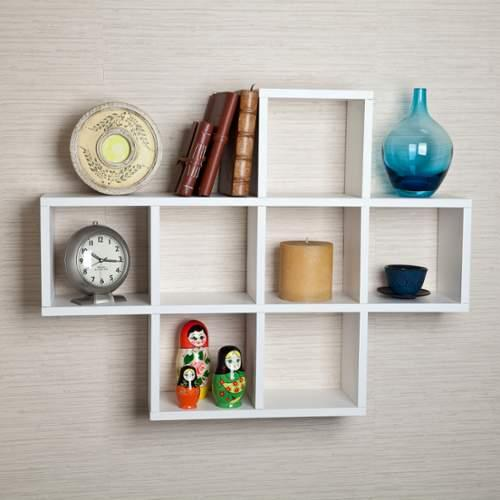 Danya B  XF11056  Wall Decor  Home Decor  Shelves  ;White