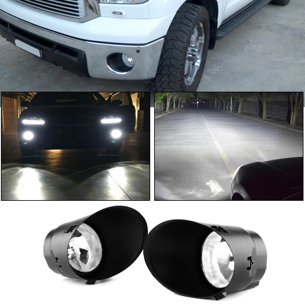 08-11 Sequoia Clear Lens Driving Fog Lights Bumper Lamps+Switch 07-13 Tundra