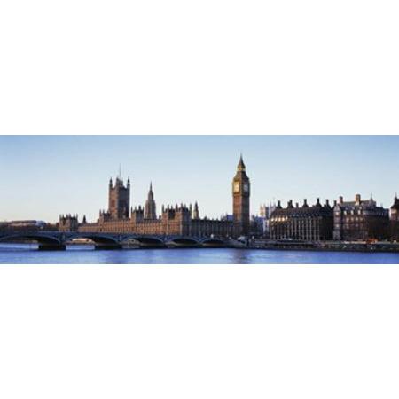 Bridge Across A River Big Ben Houses Of Parliament Thames River Westminster Bridge London England Poster Print