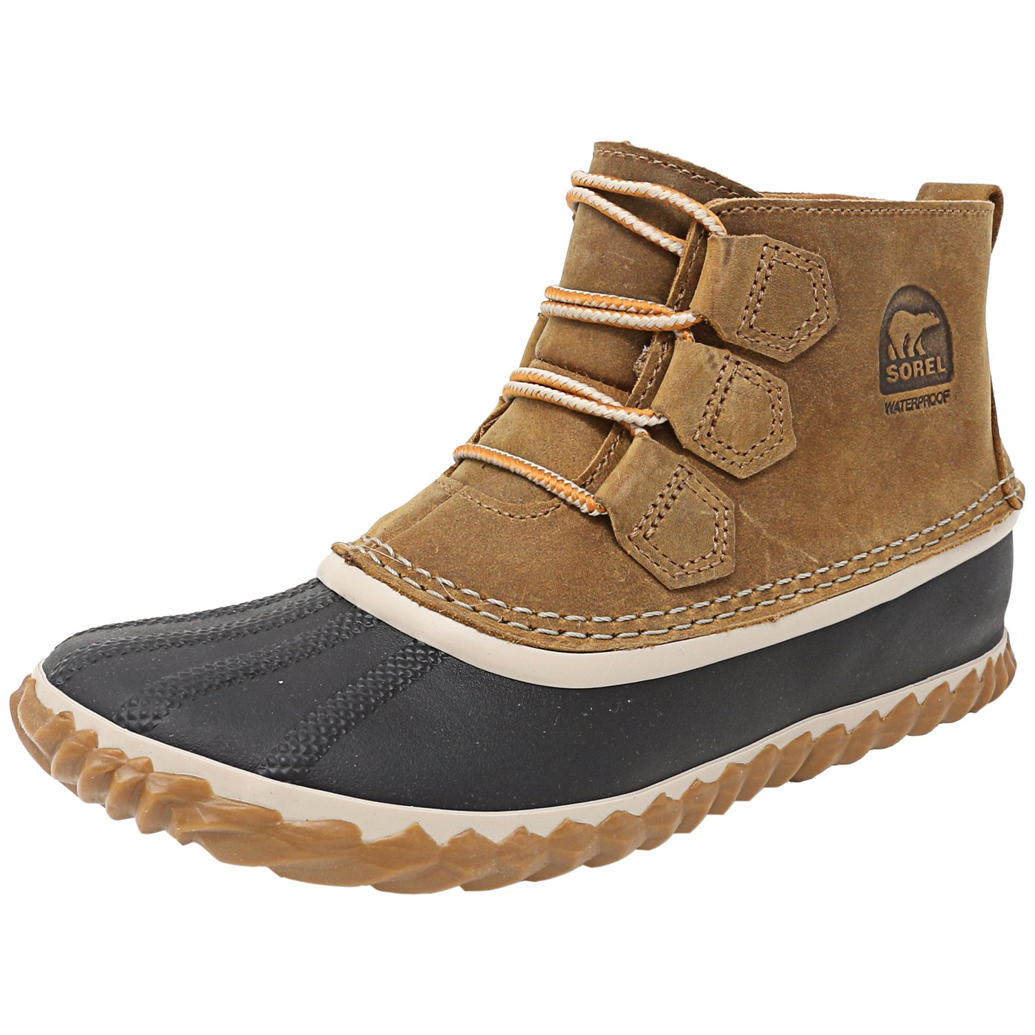 Sorel Women's Out N About Elk Ankle-High Leather Rain Boo...