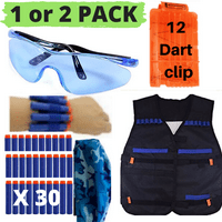 Wishery Kids Tactical Vest for Nerf Guns N-Strike Elite Series. Dart Accessories Kit, Nerf War Gear Birthday Party Supplies, Nerf Fortnite, Cool Toy gift for Boys and Girls. AGE 4+