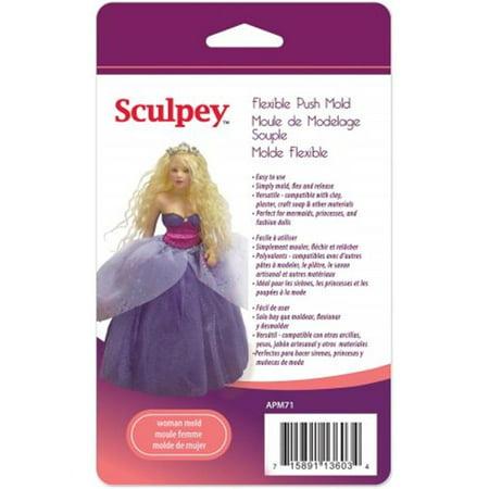 481538 Sculpey Flexible Push Mold-Woman -