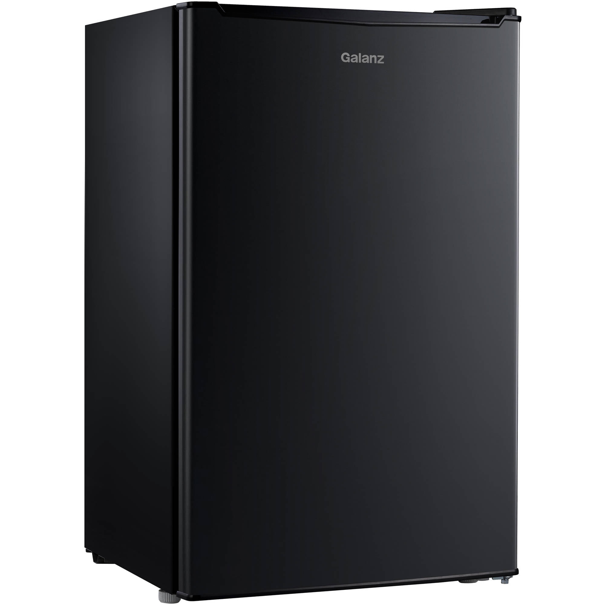 Galanz 3 5 cu ft compact single door refrigerator black for 1 door chiller
