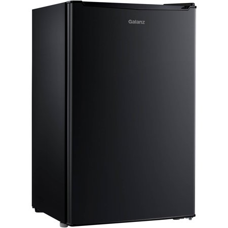 Galanz 3.5 Cu Ft Single Door Mini Fridge GL35BK, Black