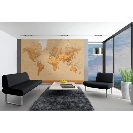 Ideal D cor The World Wall Mural
