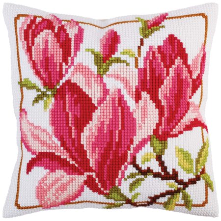 Magnolia Needlepoint Pillow (Collection D'Art Magnolia Flowers Pillow Cover Needlepoint Kit )