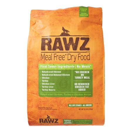 - Rawz Natural Pet Food Chicken & Turkey Dry Dog Food, 20 Lb