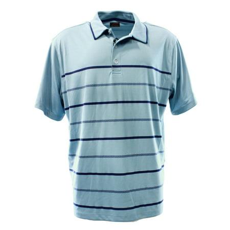 Greg Norman NEW Blue Striped Men's Medium M Polo Athletic Apparel Shirt $55 #095 (Greg Norman Apparel)