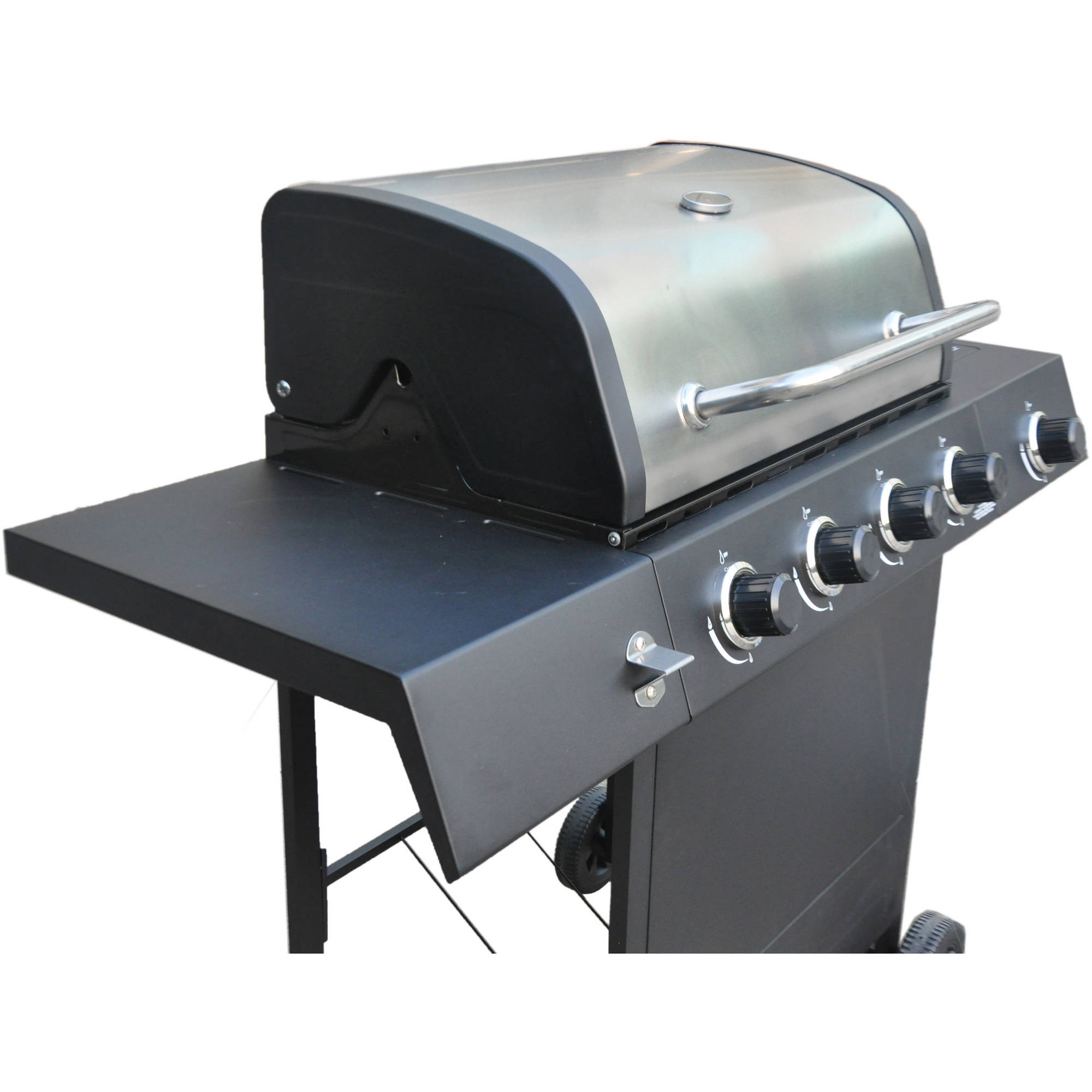 revoace 4 burner lp gas grill with side burner stainless steel