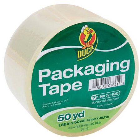 (4 Pack) Duck Standard Packaging Tape 1.88 in. x 50 yd., Clear,