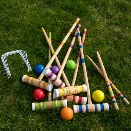 - Hey! Play! Complete Croquet Set with Carrying Case