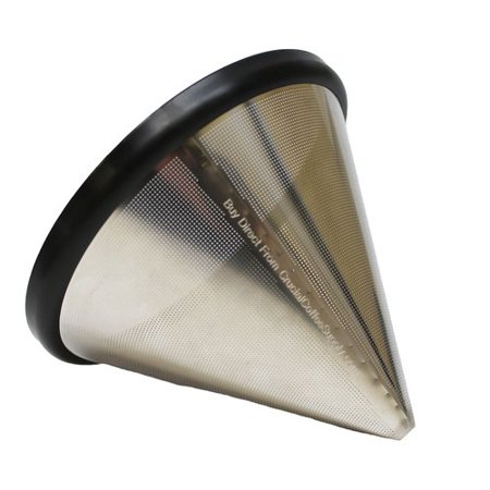 Crucial Washable and Reusable Stainless Steel Cone Coffee Filter