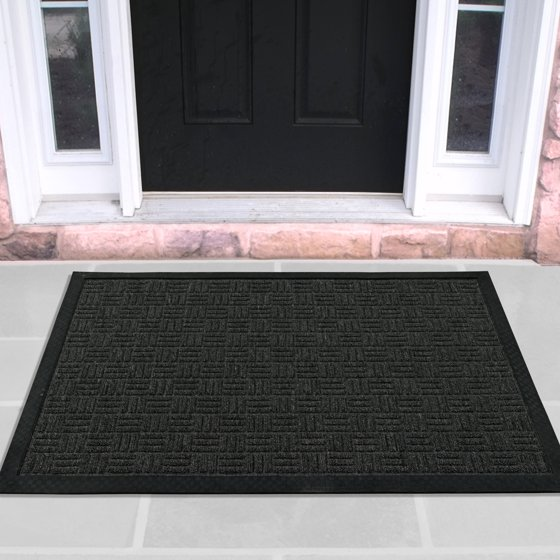Walmart Foyer Rug : Loop carpet rubber backed entrance scraper door mat quot