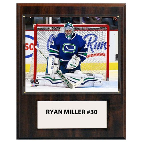 "C&I Collectibles NHL  Ryan Miller Vancouver Canucks Player Plaque 12""x15"""