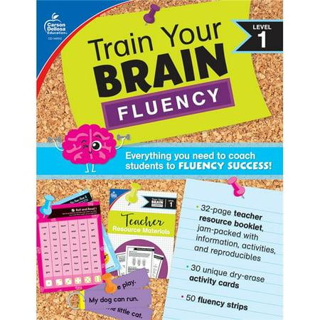 Carson Dellosa CD-705313BN Train Your Brain Fluency Level 1 Classroom Kit - 2 Piece - Multi Color