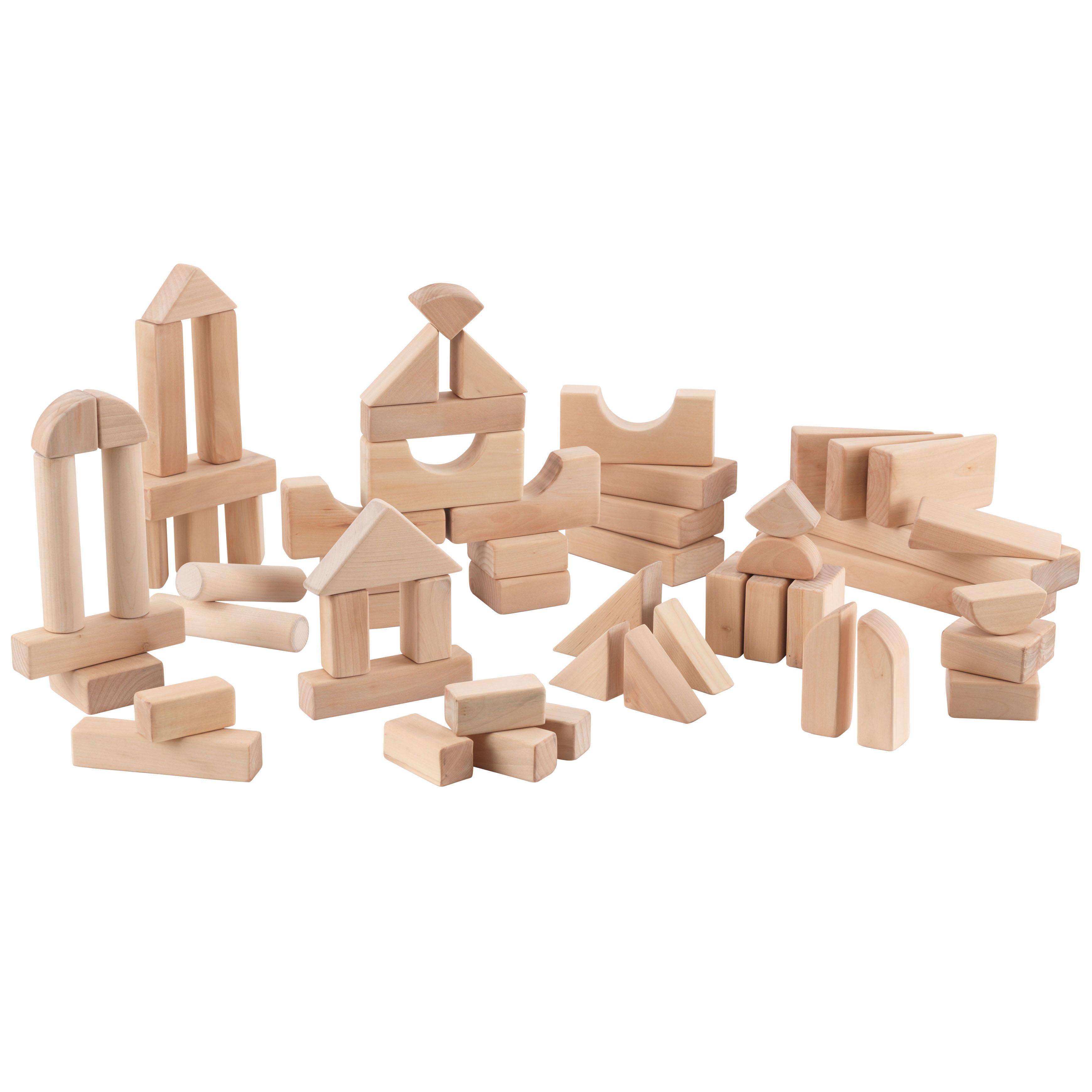 KidKraft 60-Piece Wooden Block Set - Natural