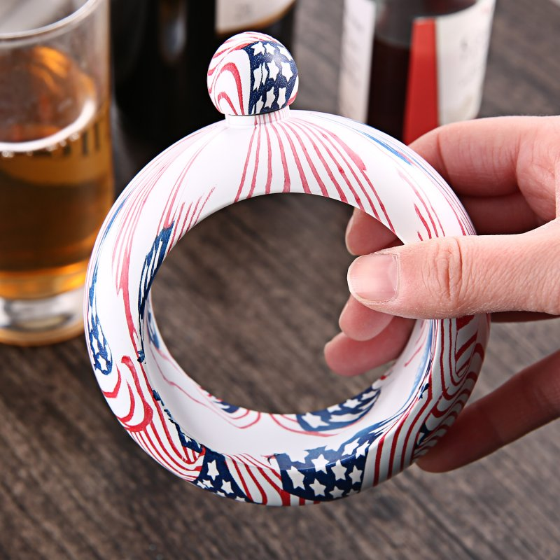 Fashion Jewelry Stainless Steel Multicolor Jug Bracelet Alcohol Hip Flasks Funnel Bangle Bracelet