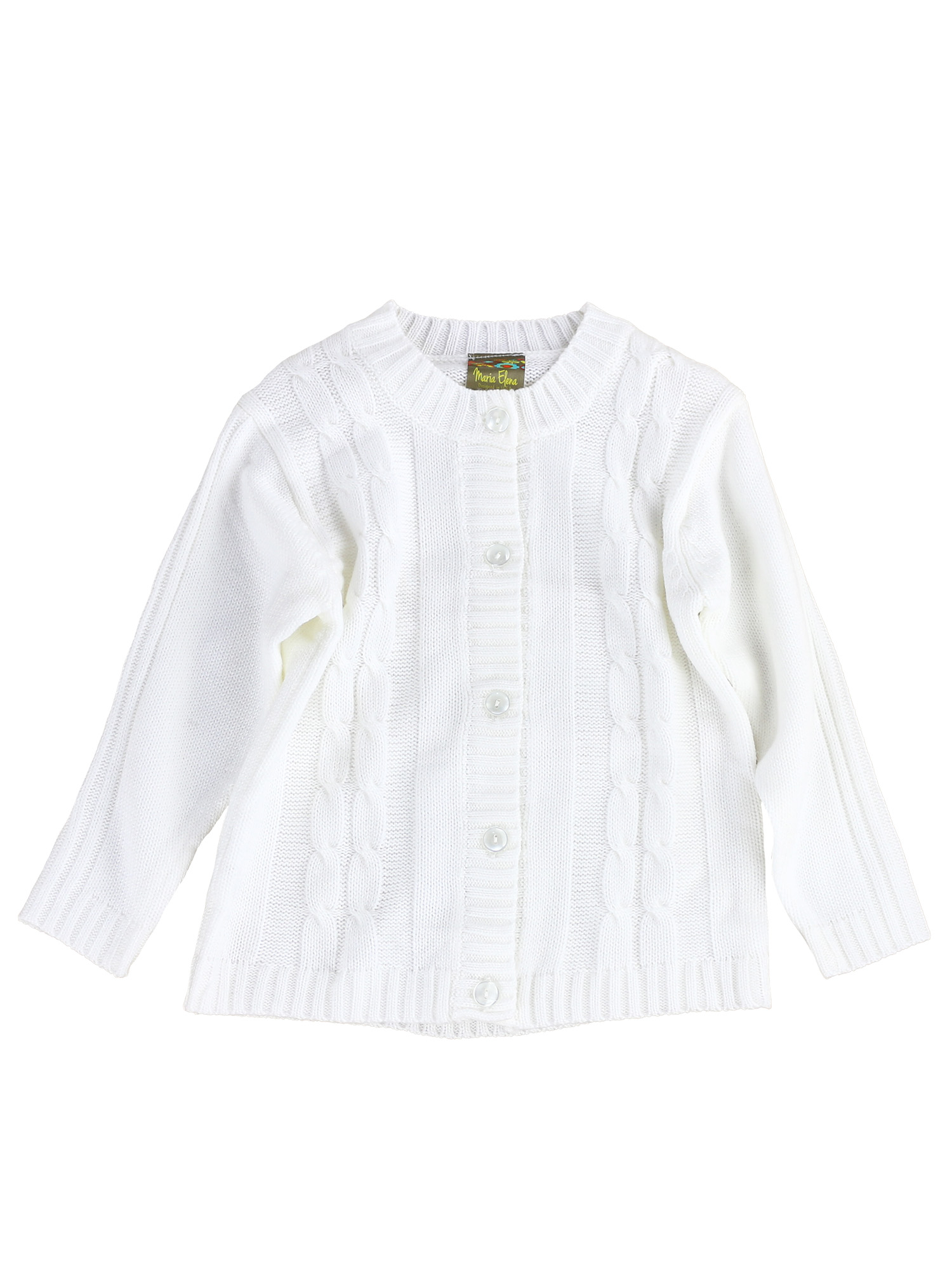 Cable Knit Margie-Jay Cardigan Sweater for Toddlers and Girls (Pearl White, 2T)