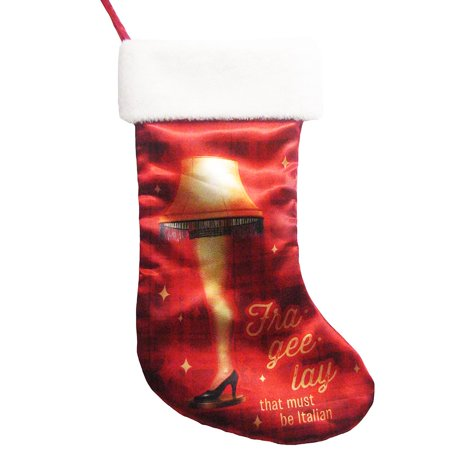 A CHRISTMAS STORY LEG LAMP PRINTED STOCKING