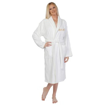Authentic Hotel and Spa - Embroidered  Mom  Terry Cloth Turkish Cotton Bath  Robe - Walmart.com 838a9a9db