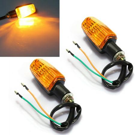 2x Universal Motorcycle Bike Turn Signal Blinker light Indicator Amber Rear Lamp