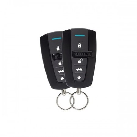 clifford 4105x 1 way 4 button remote start system with. Black Bedroom Furniture Sets. Home Design Ideas