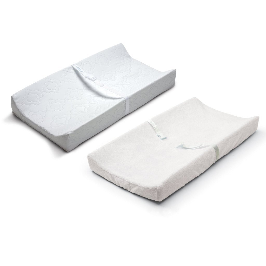 Summer Infant Contoured Changing Pad & Changing Pad Cover in White by Summer Infant