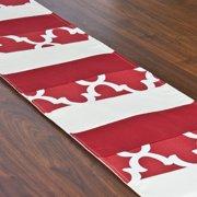 Brite Ideas Living Fynn Timberwolf 125 x 71 in. Pieced Runner