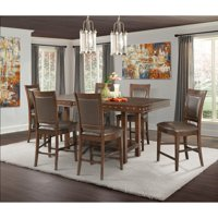 Picket House Furnishings Pruitt 7 Piece Counter Height Extension Dining Table Set