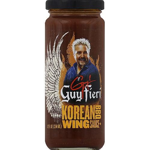 Guy Fieri Korean BBQ Wing Sauce, 12 fl oz, (Pack of 6)