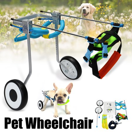 Pet Dog Wheelchair Walk Cart Scooter petwheelchair For Handicapped Hind Leg Doggie XS 2 Wheels