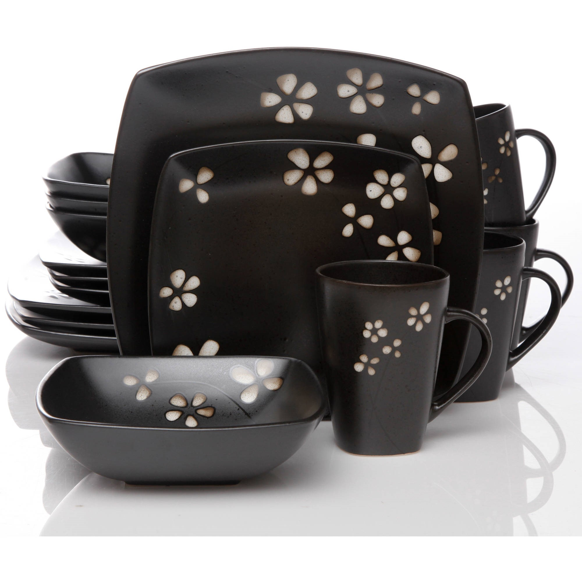 Better Homes & Gardens Sylvan Springs 16-Piece Dinnerware Set